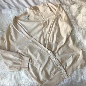 silk cotton cashmere blend cardigan xlarge